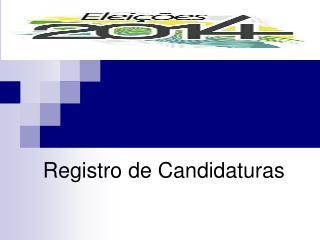 Registro de Candidaturas