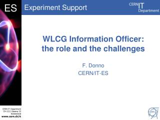 WLCG Information Officer:  the role and the challenges