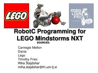 RobotC Programming for LEGO Mindstorms NXT