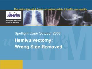 Spotlight Case October 2003