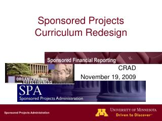 Sponsored Projects Curriculum Redesign