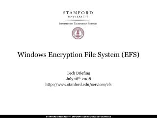 Windows Encryption File System (EFS)
