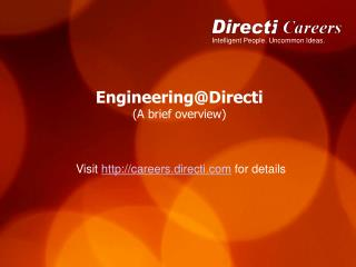 Engineering@Directi (A brief overview)