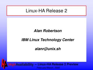 Linux-HA Release 2