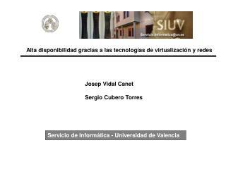Servicio de Informática - Universidad de Valencia