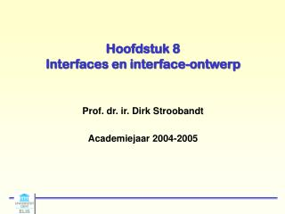 Hoofdstuk 8 Interfaces en interface-ontwerp