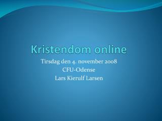 Kristendom online