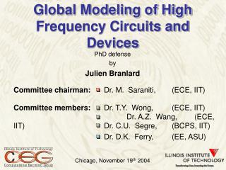 Global Modeling of High Frequency Circuits and Devices