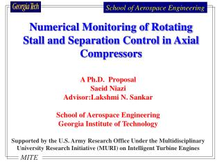 A Ph.D.  Proposal  Saeid Niazi Advisor:Lakshmi N. Sankar School of Aerospace Engineering