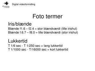 Foto termer