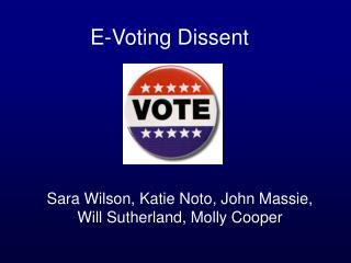 E-Voting Dissent