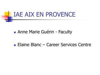 IAE AIX EN PROVENCE
