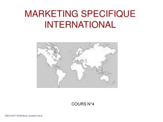 MARKETING SPECIFIQUE INTERNATIONAL