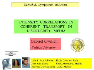Gabriel Cwilich                   Yeshiva University