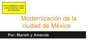 Modernización de la ciudad de México