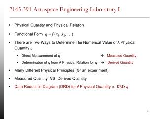 2145-391 Aerospace Engineering Laboratory I