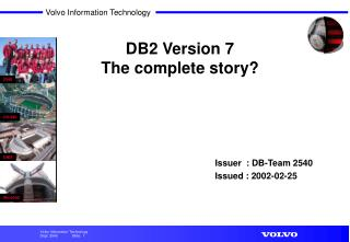 DB2 Version 7 The complete story?