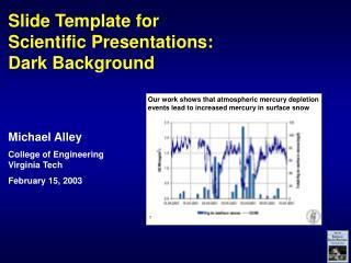 Slide Template for Scientific Presentations: Dark Background