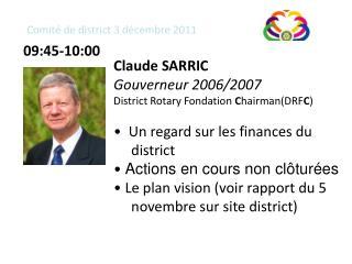Comité de district 3 décembre 2011