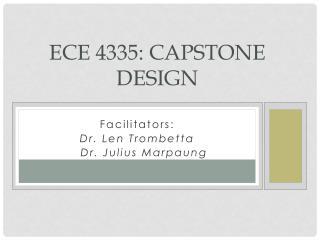 ECE  4335:  Capstone Design