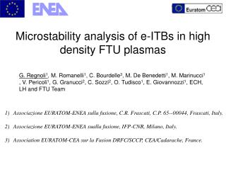 Microstability analysis of e-ITBs in high       density FTU plasmas