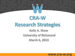 CRA-W  Research Strategies
