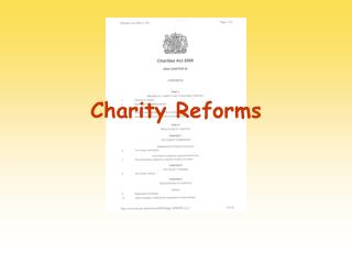 Charity Law Reform