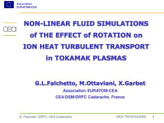 NON-LINEAR FLUID SIMULATIONS  of THE EFFECT of ROTATION on  ION HEAT TURBULENT TRANSPORT