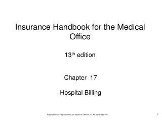 Chapter  17 Hospital Billing
