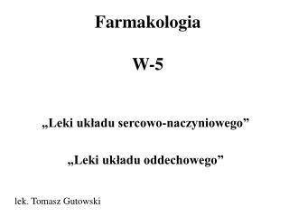 Farmakologia W-5