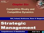 Chapter Six: Competitive Rivalry and Competitive Dynamics