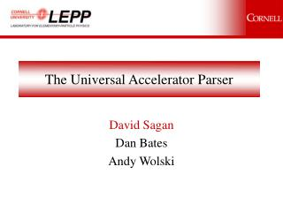 The Universal Accelerator Parser