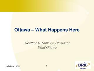 Ottawa – What Happens Here