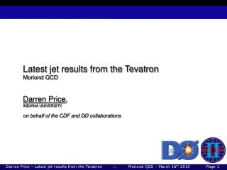 Latest jet results from the Tevatron Moriond QCD