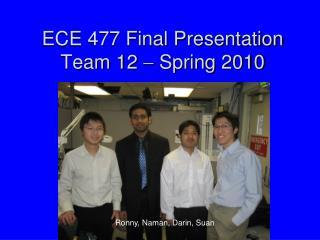 ECE 477 Final Presentation Team 12  ?  Spring 2010