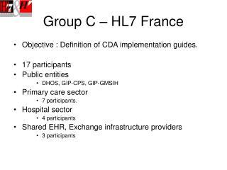 Group C – HL7 France