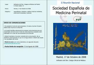 Sociedad Española de Medicina Perinatal