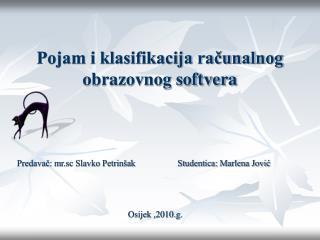 Pojam i klasifikacija računalnog obrazovnog softvera