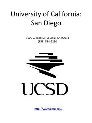 University of California: San Diego