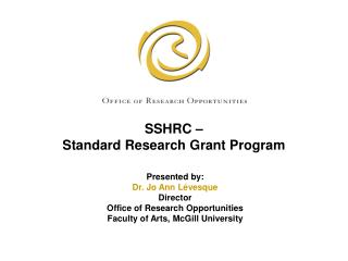 SSHRC –  Standard Research Grant Program