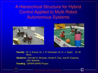 A Hierarchical Structure for Hybrid Control Applied to Multi-Robot Autonomous Systems