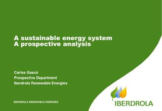 A  sustainable energy  system  A prospective analysis