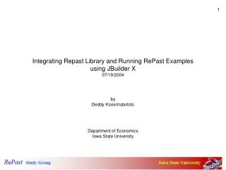 Integrating Repast Library and Running RePast Examples  using JBuilder X 07