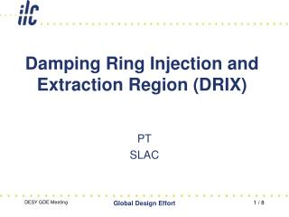 Damping Ring Injection and Extraction Region (DRIX)