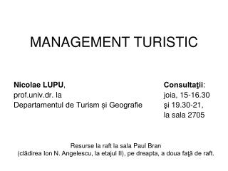 MANAGEMENT TURISTIC