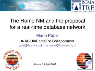 The Rome NM and the proposal for a real-time database network