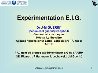 Expérimentation E.I.G.