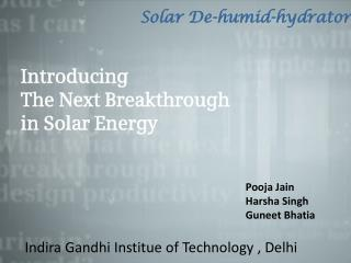 Introducing  The Next Breakthrough in Solar Energy