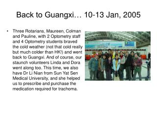 Back to Guangxi… 10-13 Jan, 2005