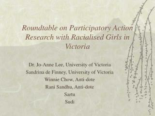 Roundtable on Participatory Action Research with Racialised Girls in Victoria
